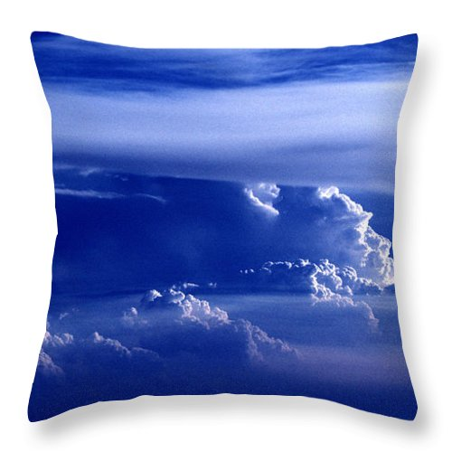 Sky Throw Pillow featuring the photograph Sky From Above - 5026 by Paul W Faust - Impressions of Light