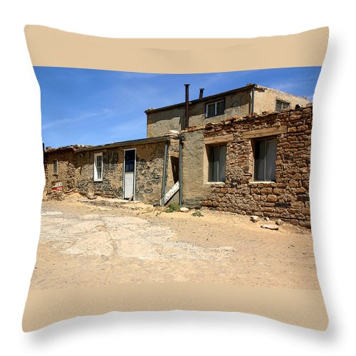 Pueblo Throw Pillow featuring the photograph Sky House by Joe Kozlowski