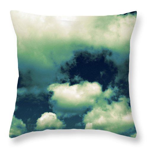 Blue Throw Pillow featuring the photograph Sky by Michelle Calkins