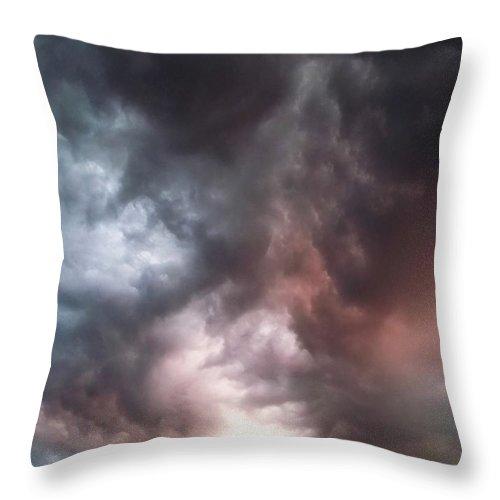 Sky Throw Pillow featuring the photograph Sky Moods by Glenn McCarthy