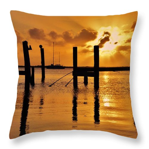 Florida Throw Pillow featuring the photograph Skyfire by Benjamin Yeager