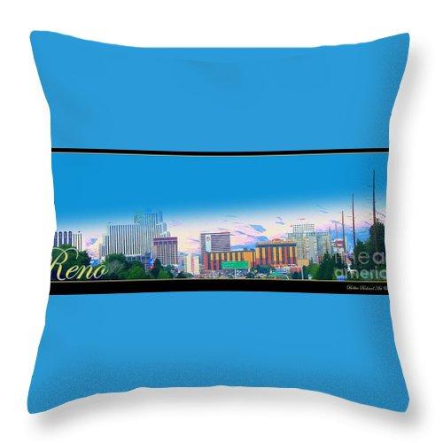 Reno Throw Pillow featuring the photograph Skyline Reno by Bobbee Rickard