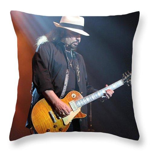 Lynyrd Skynyrd Throw Pillow featuring the photograph Skynyrd-gary-7397 by Gary Gingrich Galleries
