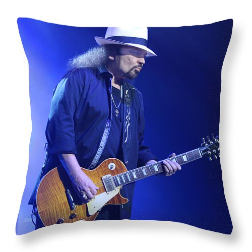 Lynyrd Skynyrd Throw Pillow featuring the photograph Skynyrd-gary-7399 by Gary Gingrich Galleries