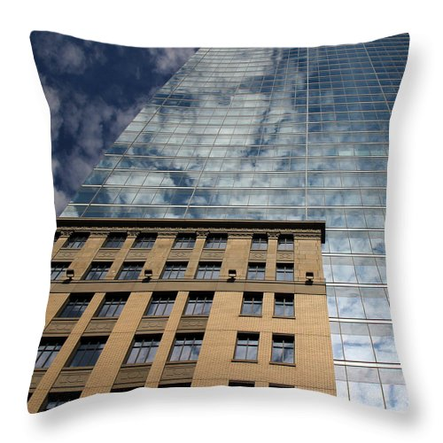 Skyscraper Throw Pillow featuring the photograph Skyscraper 5 by Andrew Fare