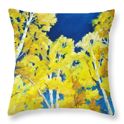 Sky Throw Pillow featuring the painting Skyward by Richard T Pranke