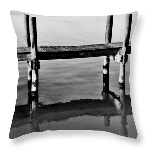 Key Largo Throw Pillow featuring the photograph Slats by Benjamin Yeager