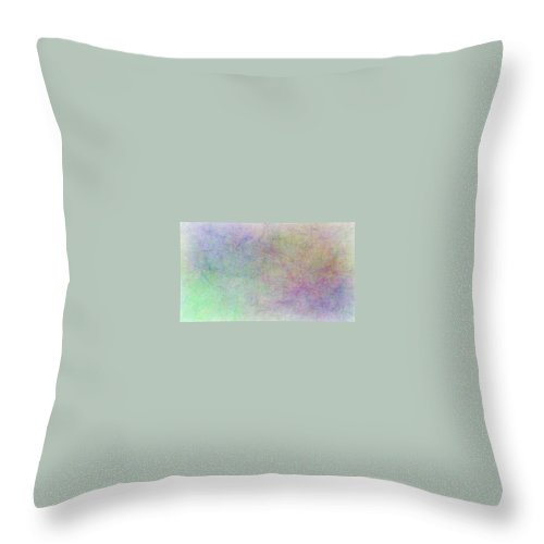 Abstract Throw Pillow featuring the painting Sleeping by Bruce Nutting