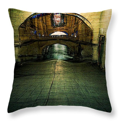 Archway Throw Pillow featuring the painting Slouching Towards Bethlehem by RC DeWinter