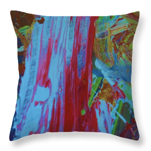 Original Throw Pillow featuring the painting Slow Your Dali by Artist Ai