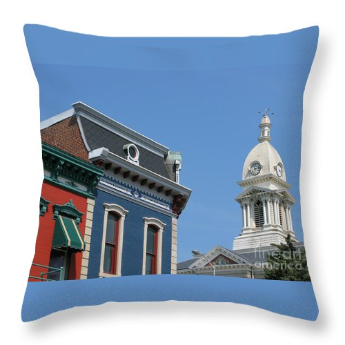 Town Throw Pillow featuring the photograph Small Town America by Ann Horn