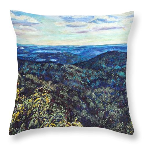 Landscape Throw Pillow featuring the painting Smartview Blue Ridge Parkway by Kendall Kessler