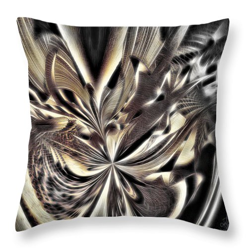 Collage Throw Pillow featuring the digital art Smash And Grab by Pennie McCracken