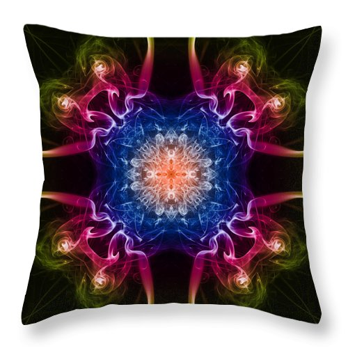Smoke Trail Throw Pillow featuring the photograph Smoke Art 31 by Steve Purnell