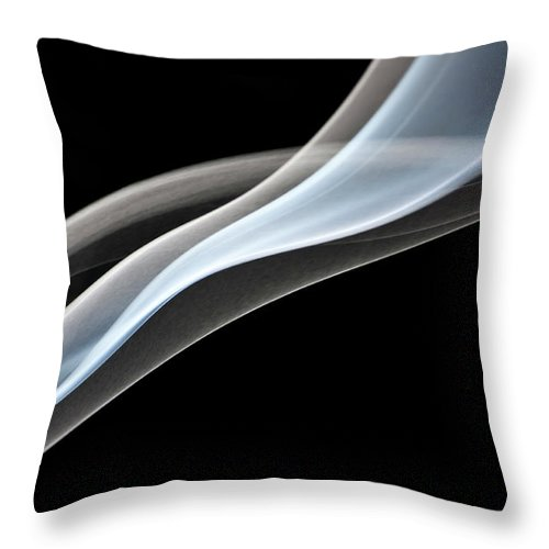 Curve Throw Pillow featuring the photograph Smoke, Creative Abstract Vitality by Tttuna