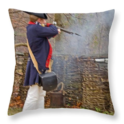 Sandra Clark Throw Pillow featuring the photograph Smoke Of Freedom by Sandra Clark