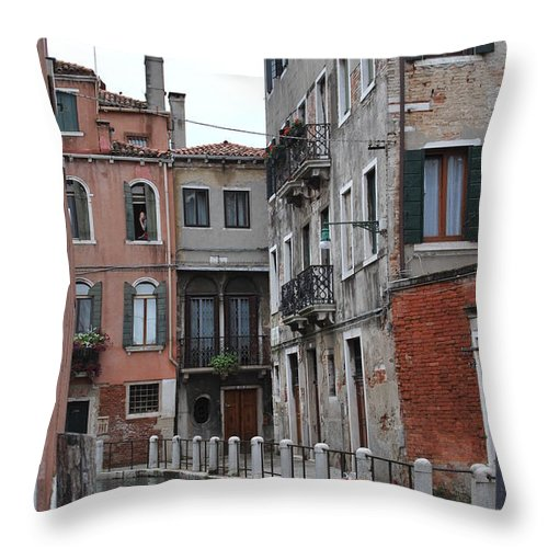 Blonde Throw Pillow featuring the photograph Smoking Girl 1 by Richard Booth
