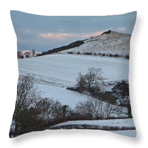 Snow Throw Pillow featuring the photograph Snow On The Hill by John Topman