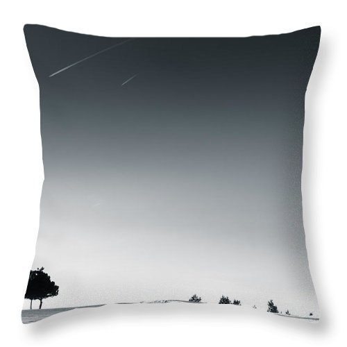 Snow Throw Pillow featuring the photograph Snow Scape 4 by Paul Adams