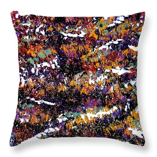 Snow Throw Pillow featuring the painting Snow by Tim Townsend