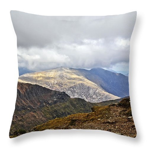 Travel Throw Pillow featuring the photograph Snowdonian Splendor by Elvis Vaughn