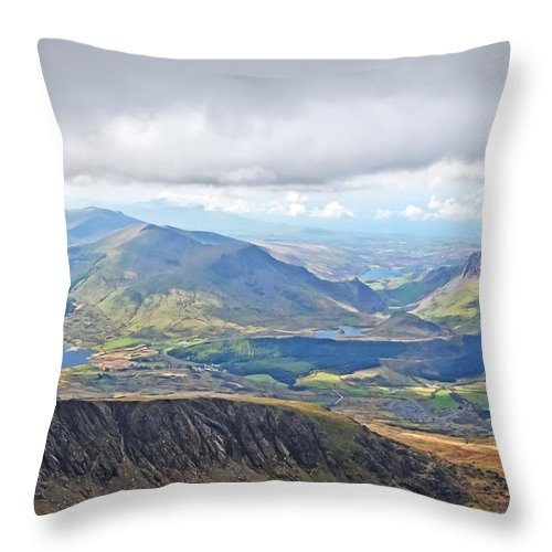 Travel Throw Pillow featuring the photograph Snowdonian Thunderstorm by Elvis Vaughn