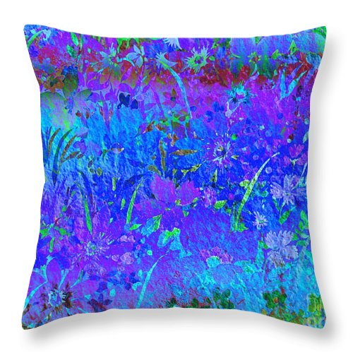 Floral Abstract Throw Pillow featuring the photograph Soft Pastel Floral Abstract by Judy Palkimas