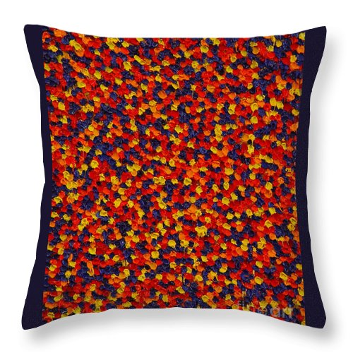 Abstract Throw Pillow featuring the painting Soft Primary by Dean Triolo