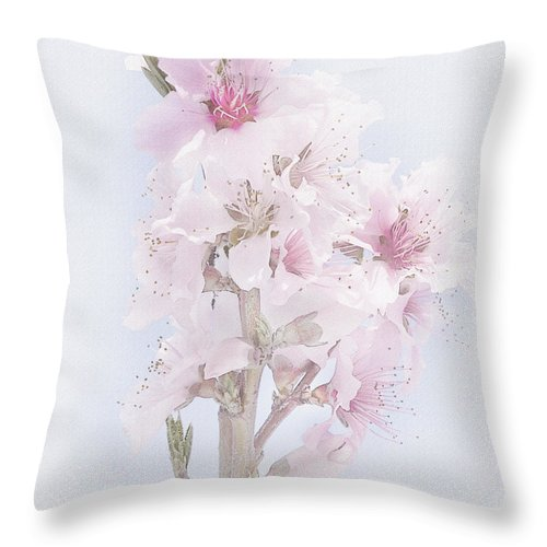 Blooms Throw Pillow featuring the photograph Soft Spring by David and Carol Kelly
