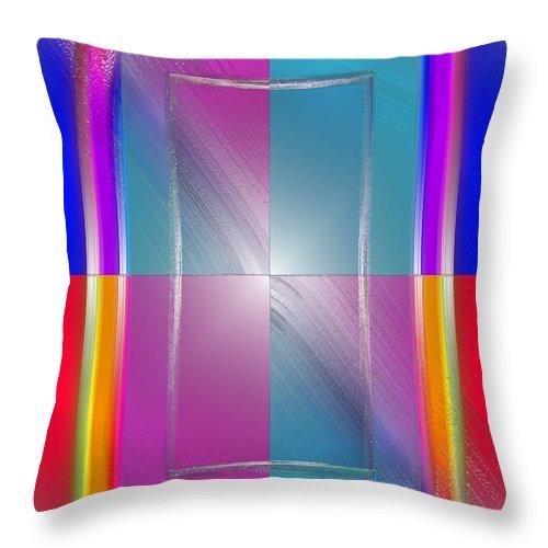 Pop Throw Pillow featuring the digital art Soft Wobbling by Del Gaizo