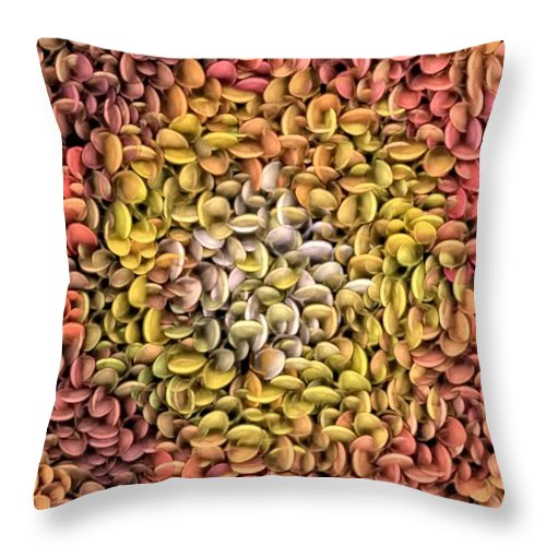Throw Pillow featuring the digital art Softly by Bobbie Barth