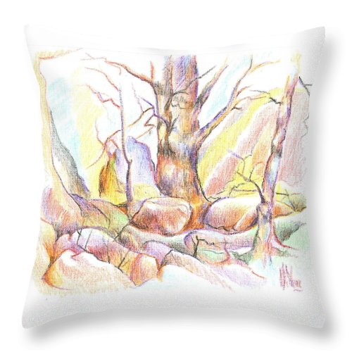 Softly Speaking Throw Pillow featuring the painting Softly Speaking by Kip DeVore