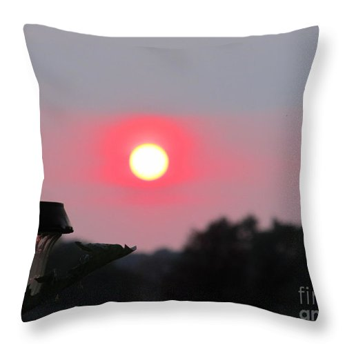 Sun Throw Pillow featuring the photograph Solar Light And Sunset by Tina M Wenger