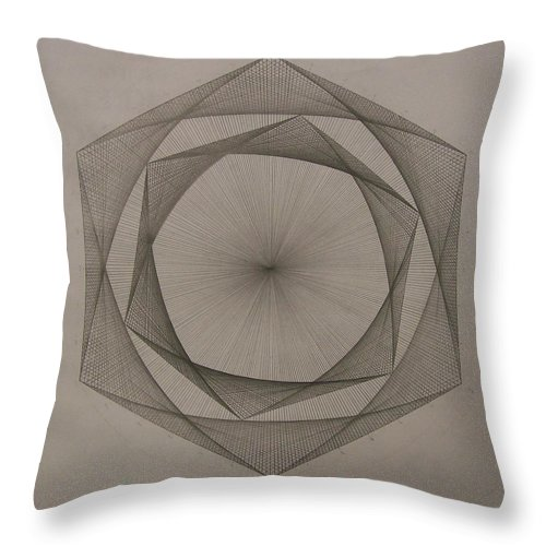 Fractal Throw Pillow featuring the drawing Solar Spiraling by Jason Padgett