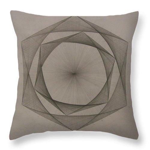 Fractal Throw Pillow featuring the drawing Solar spiraling by Jason Padgett