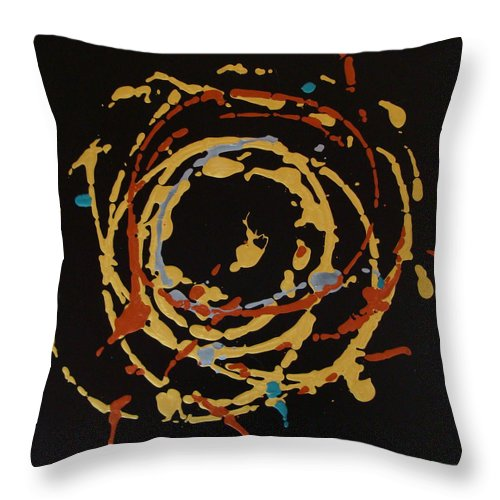 Abstract Throw Pillow featuring the painting Solaris by Holly Picano