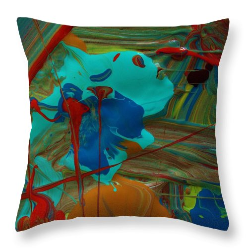 Original Throw Pillow featuring the painting Sold For Presentation Only by Artist Ai