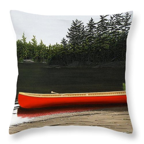 Llandscapes Throw Pillow featuring the painting Solemnly by Kenneth M Kirsch