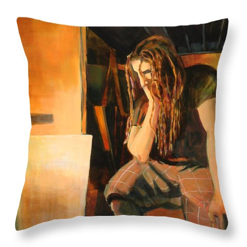 Man Throw Pillow featuring the painting Soliliquy by Sue Darius