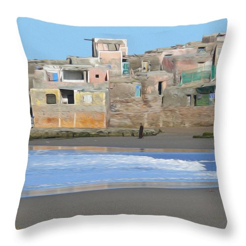 Agadir Throw Pillow featuring the photograph Solitary Journey by Tracy Winter
