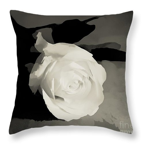Rose Throw Pillow featuring the photograph Solitary by Sharon Johnston