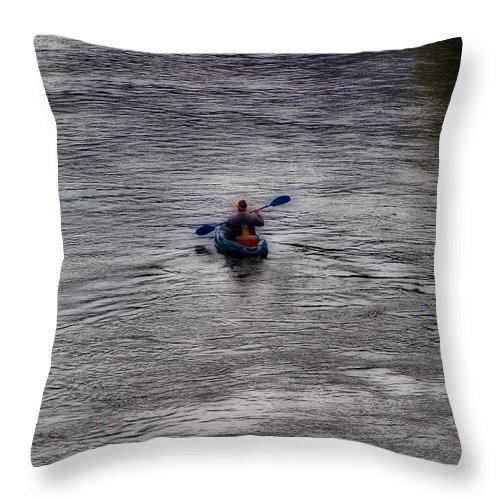 Scenic Tours Throw Pillow featuring the photograph Solitary by Skip Willits