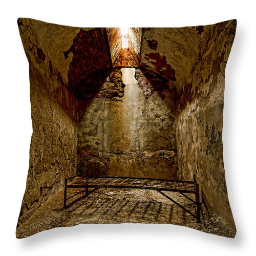Eastern State Penitentiary Throw Pillow featuring the photograph Solitude by Michael Dorn