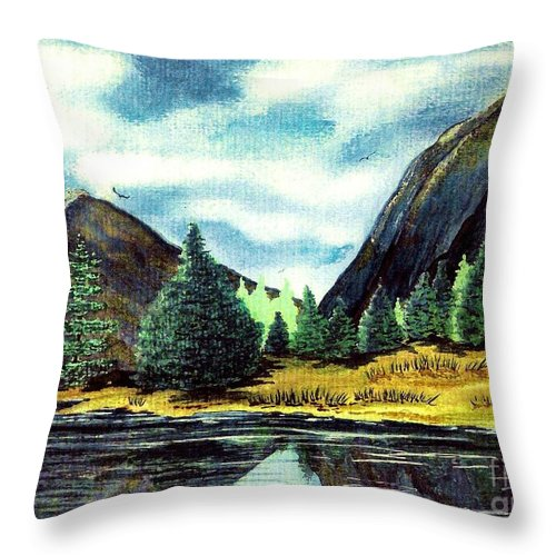 Fine Art Throw Pillow featuring the painting Solitude by Patricia Griffin Brett