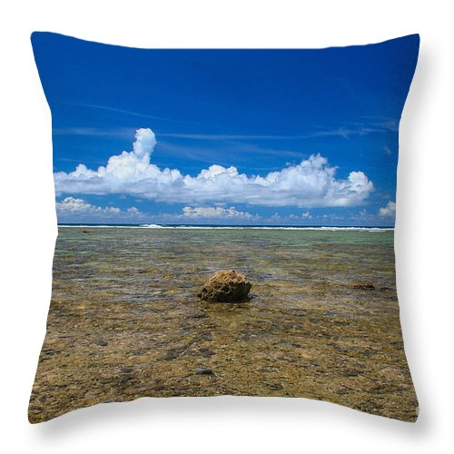 Beach Throw Pillow featuring the photograph Solitude by SnapHound Photography