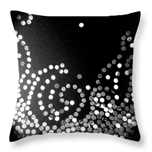 Black Throw Pillow featuring the photograph Solitude by Trish Hernandez