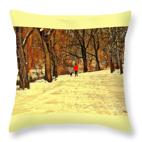 Photo Throw Pillow featuring the photograph Solitude With A Friend by Tami Quigley