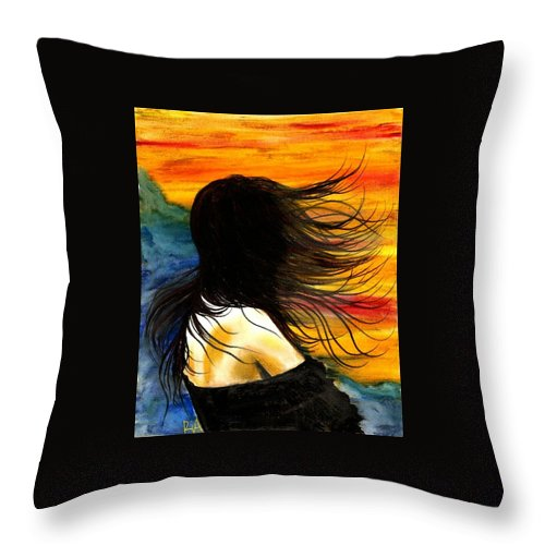 Beautiful Throw Pillow featuring the photograph Solo Mood by Artist RiA