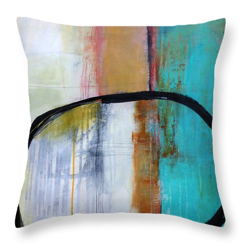 Keywords: Abstract Throw Pillow featuring the painting Solo Solo Solo 1 by Jane Davies