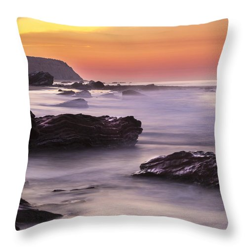 Beach Throw Pillow featuring the photograph Song Of The Wave 2 By Denise Dube by Denise Dube